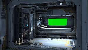 spaceship bedroom scifi spaceship bedroom video background green screen stock