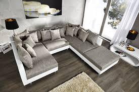 sofa liegewiese design sofa mit hocker weiß grau riess ambiente de