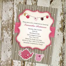 bridal tea party invitation printable pink and brown bridal shower tea party invitations