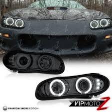 02 camaro headlights 1998 2002 chevrolet camaro z28 ss sinister black halo led