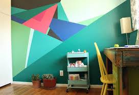 paint this geometric wall design pearmama