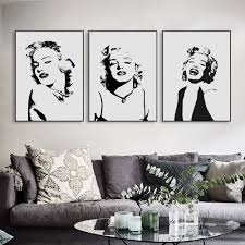 original watercolor marilyn monroe portrait pop vintage canvas art