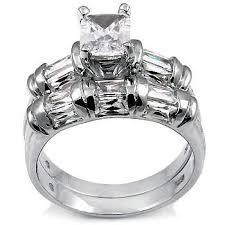 emerald cut wedding set kerrie s emerald cut cz wedding ring set jewelry box