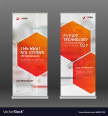 layout banner design medical roll up vertical banner design layout vector image