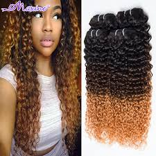 Black To Brown Ombre Hair Extensions by Aliexpress Com Buy 3 Tone Ombre Hair Extensions Brazilian Curly