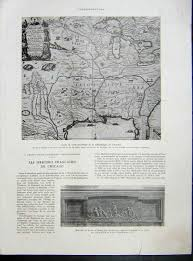 Vintage Chicago Map by Old Print Antique And Victorian Art Prints Paintings World Maps