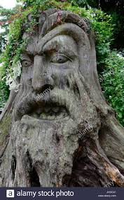 large wood sculpture large wood carving of the green caerleon gwent wales cymru uk