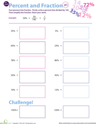 fractions decimals and percents education com