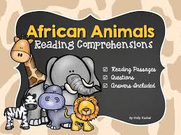 reading comprehension african animals by hollyrachel teaching