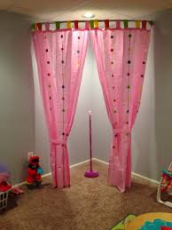 here u0027s a playroom stage idea i used a curved shower curtain rod