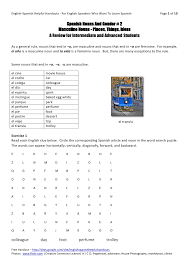 gender nouns worksheet for grade 1