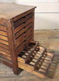 Multi Drawer Wooden Cabinet Vintage Industrial Wood Hamilton Multi Drawer Printers Storage Cabinet