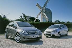 mercedes a class vs b class used test vw golf plus vs merc b class auto express