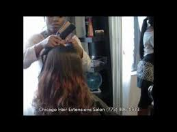 chicago hair extensions chicago hair extensions salon sew in method