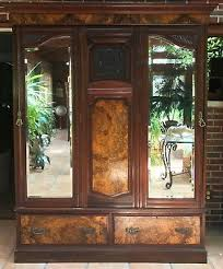 Wood Armoire Wardrobe 1900 1950 Armoires U0026 Wardrobes Furniture Antiques U2022 284 Items