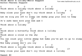 country think about a lullaby merle haggard lyrics and chords