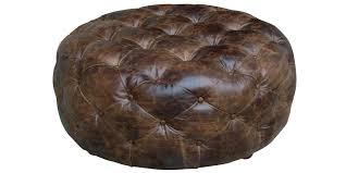 round leather coffee table ottoman u2013 round leather ottoman coffee