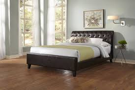 leather sleigh bed for the impressive bedroom home decor and
