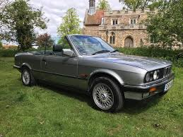 bmw 325i manual cabriolet e30 lachs silver 1988 in biggleswade