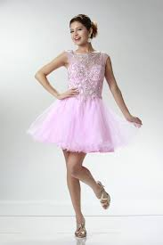 pink strapped cap sleeve sweetheart a line short prom dresses