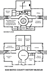 floor plans for floor plans for history museum san mateo county historical