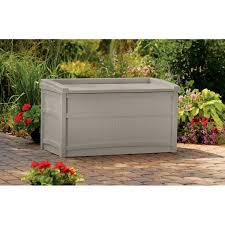 Suncast 50 Gallon Patio Bench by Suncast 50 Gal Plastic Deck Box Db5500 Storage Sheds U0026 Deck