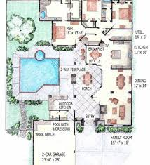 Pool House Plans With Bedroom by Indoor Pool House Plans