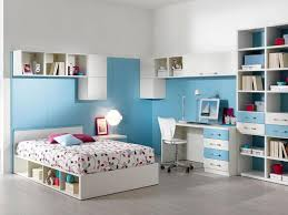 Small Desk With Bookcase Kids Bedroom Open Concept Blue And White Boys Bedroom Small Desk