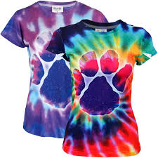 Purple Paw Tie Dye Tee The Animal Rescue Site