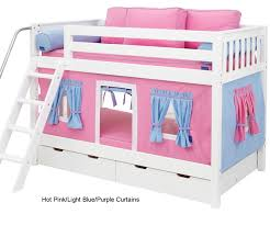 Bunk Bed Curtains Pink Light Blue  Purple Annies Bedroom - Pink bunk beds for kids