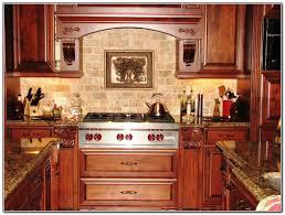 kitchen backsplash ideas with cherry cabinets powder room entry