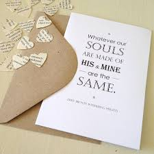 wedding quotes emily bronte wuthering heights valentines card by literary emporium