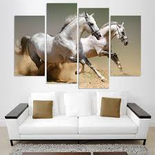 equine home decor two horse home decor hd printed modern art painting on canvas