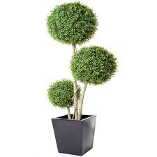 Topiary Balls With Flowers - boxwood three ball tree topiary floral arrangement and gardens