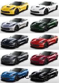 2014 corvette colors 2014 chevrolet corvette stingray visualizer every paint color