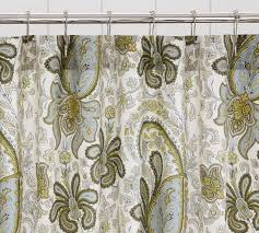 Organic Cotton Curtains Paisley Organic Shower Curtain Pottery Barn