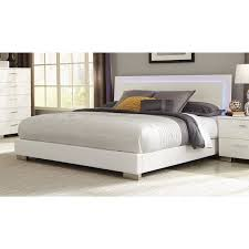 platform bed with led lights coaster company felicity white led lighting platform bed free