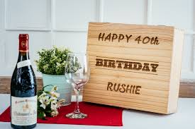 birthday wine personalised birthday triple wooden wine box oodlique com