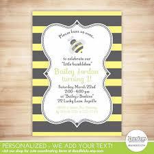 bumblebee birthday invitation bee birthday party invite bumble