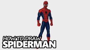 draw spiderman easy step step video lesson