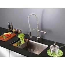 28 inch kitchen sink ruvati rvf1290st 28 inch pre rinse spray commercial style kitchen