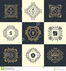 monogram luxury logo stock vector image 55758696