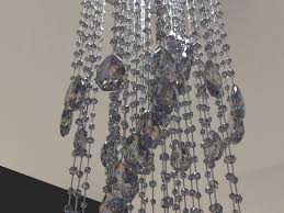 3d model modern crystal chandelier cgtrader