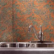 Copper Kitchen Backsplash by Fasade Backsplash Ripple In Copper Fantasy