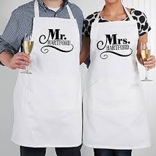 personalized wedding aprons happy