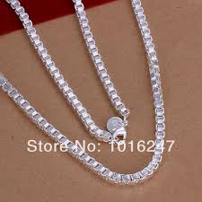 box chain necklace silver images 2018 4m 20inch silver box chains 925 sterling silver necklace jpg