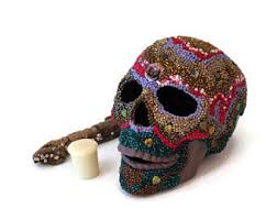 Day Of The Dead Home Decor Mosaic Sugar Skull Day Of The Dead Skull Folk Art Skull