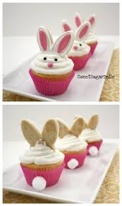Easter Cake Edible Decorations by Easy Homemade Easter Bunny Cupcakes Bunny Cupcake Recipes Easter