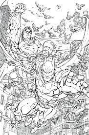 batman superman 28 coloring book variant cover