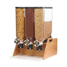 Bamboo Table Top by Rosseto Ds102 Pro Bulk Tabletop Dispenser System Triple With